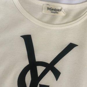 Yves Saint Laurent Tops - YSL Yves Saint Laurent Logo Tee Shirt Women Small